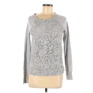 J crew small Merino wool lace sweater
